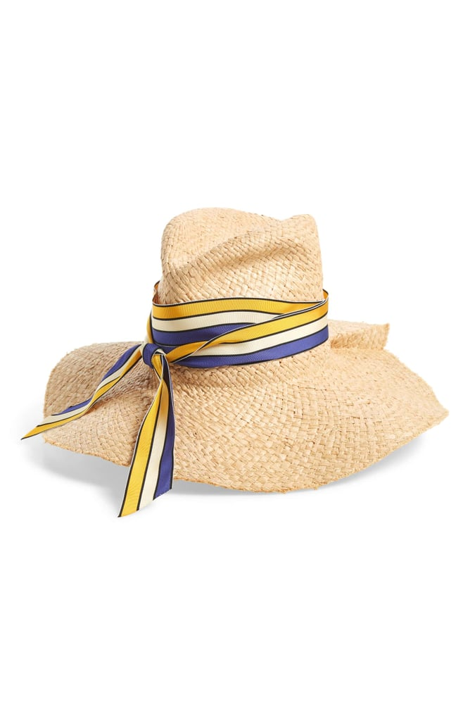 Lola Hats First Aid Striped Band Straw Hat