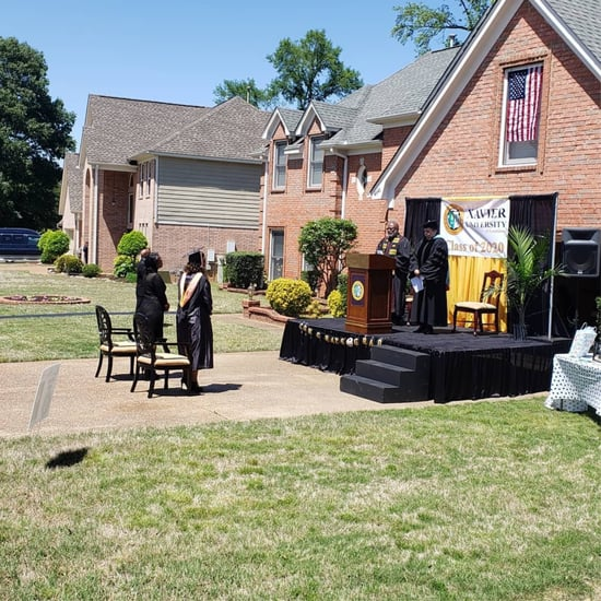 Dad Builds Stage in Driveway For Daughter's College Graduate
