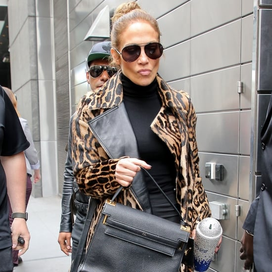 Jennifer Lopez's Leopard Trench Coat