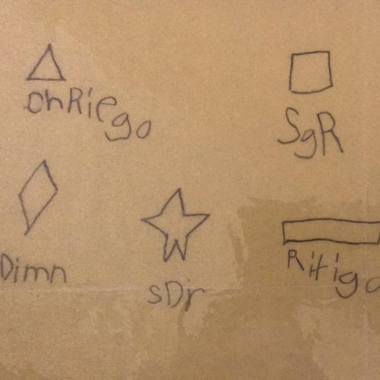 Preschooler's Phonetic Spelling of Shapes