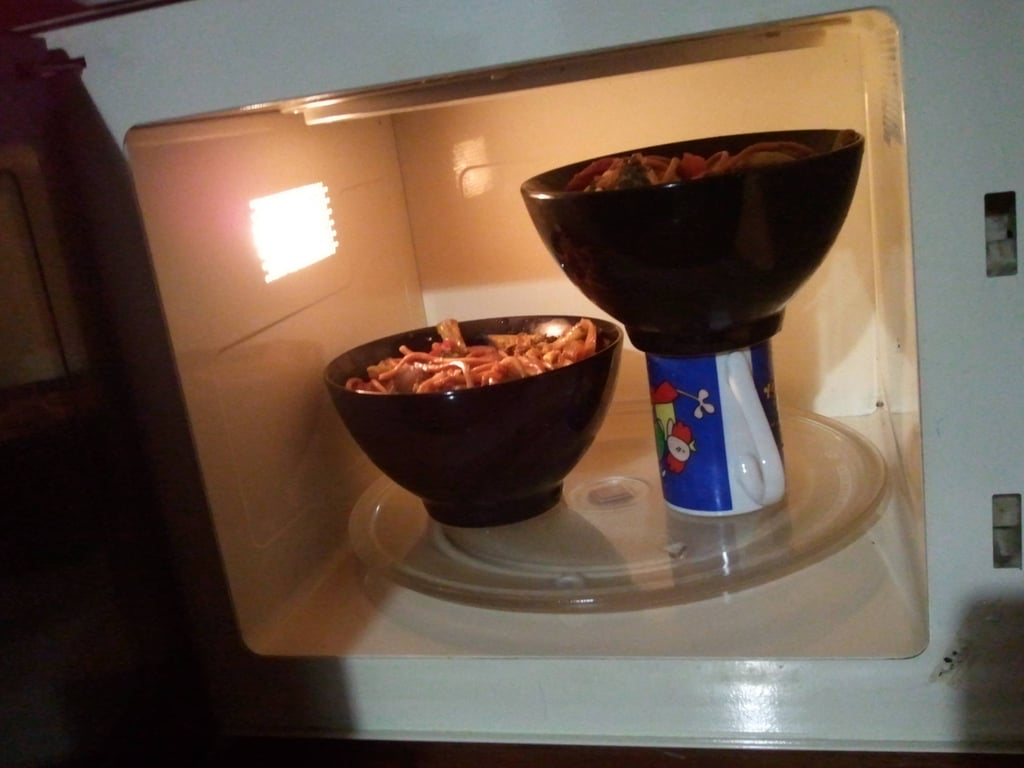 Microwave 2 Bowls at Once