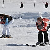 Pippa Middleton and George Percy tried to catch some speed while skiing together in France.