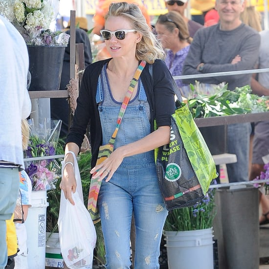 Overalls Outfit Idea From Naomi Watts