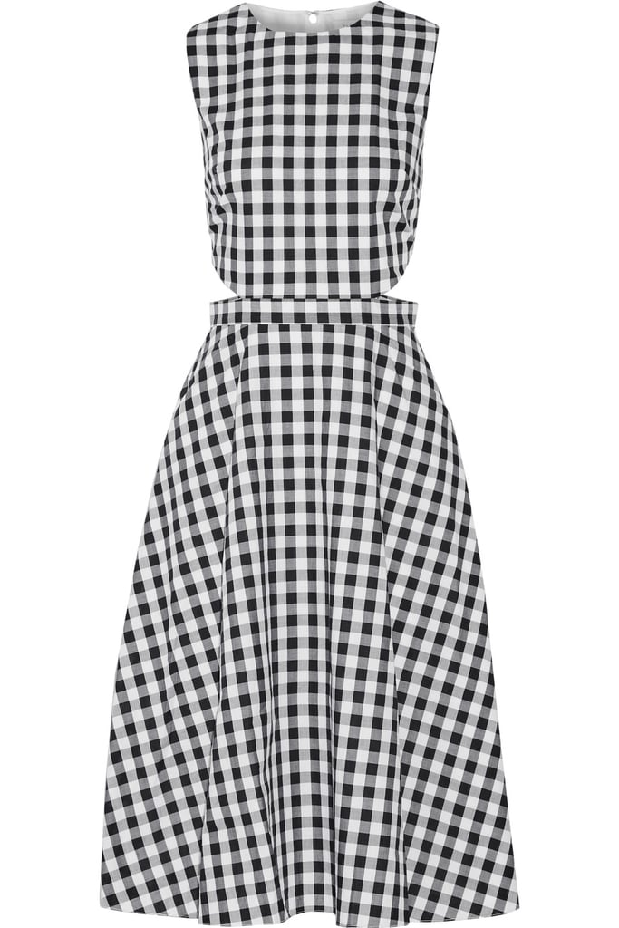 Tanya Taylor Monica cutout gingham cotton midi dress ($253)