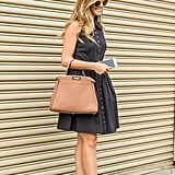 Wear a Fit-and-Flare Day Dress in a Neutral Color