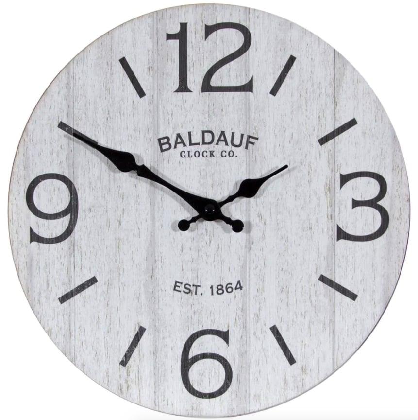 allen + roth Analog Round Wall Clock