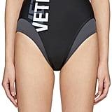 Vetements Black Double Logo Swimsuit