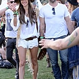 Alessandra Ambrosio walked around with her fiancé, Jamie Mazur.
