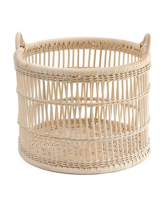 Large Boho Storage Basket
