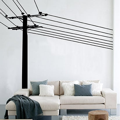 Power Pole Wall Decals: Geekish or Freakish?