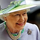 The queen dazzled at a dinner with the Argyll and Sutherland Highlanders at the Caledonian Club on May 30.
