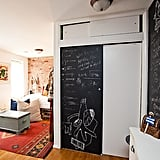 Chalkboard walls are just the thing for working out complicated equations or translating ancient runes, so any Ravenclaw should always have an erasable wall in their dwelling.   via Homepolish
