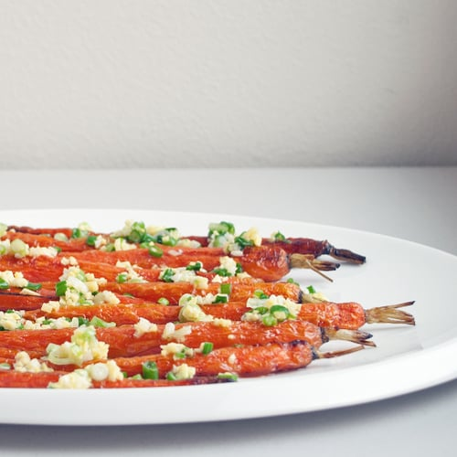 Roasted Carrots With Scallion-Ginger Glaze