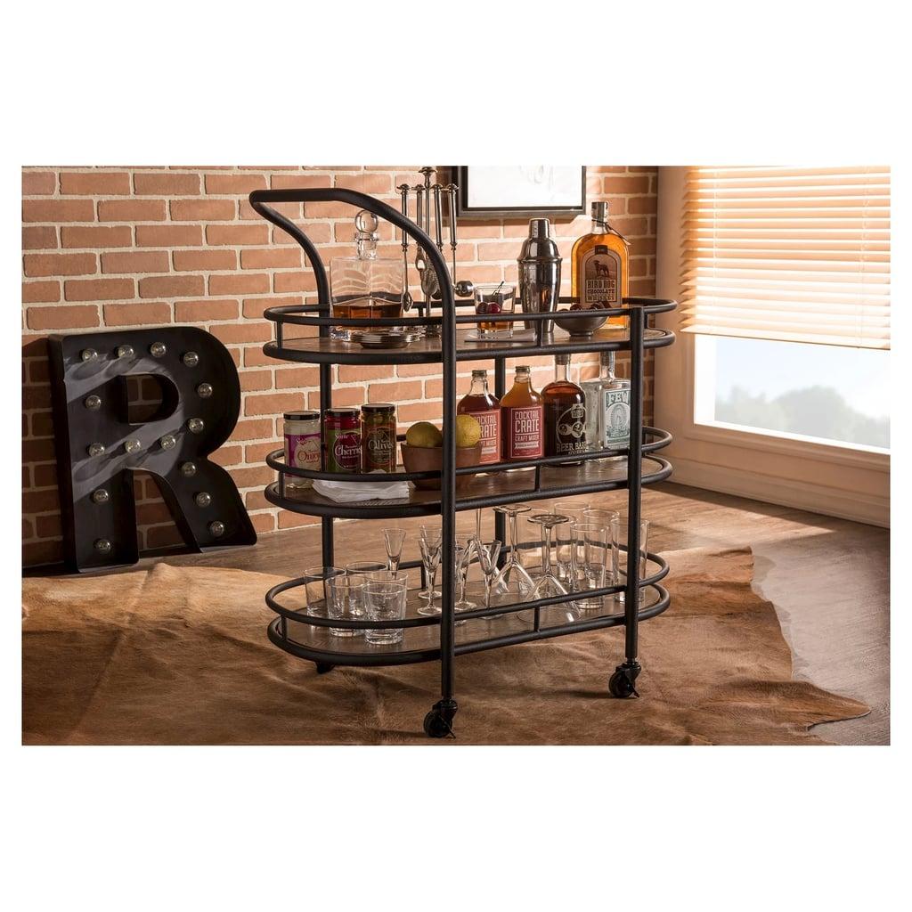 Mobile Kitchen Wine Cart