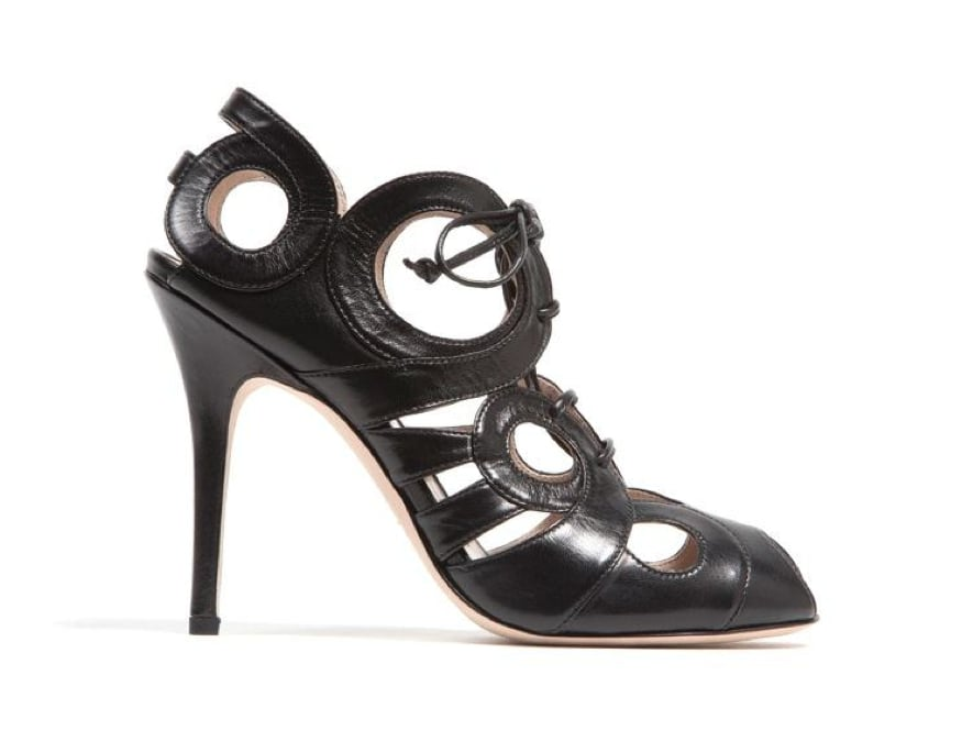Monique Lhuillier Black Capretto Pump ($895)