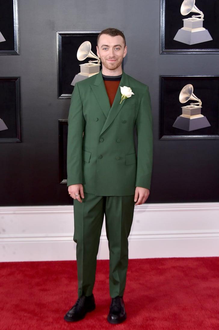 Sam Smith Grammys Red Carpet Dresses 2018 Popsugar