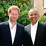 Here he is reunited with Prince Harry at Kensington Palace.