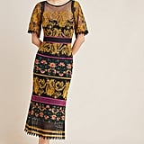 Jacquin Embroidered Midi Dress