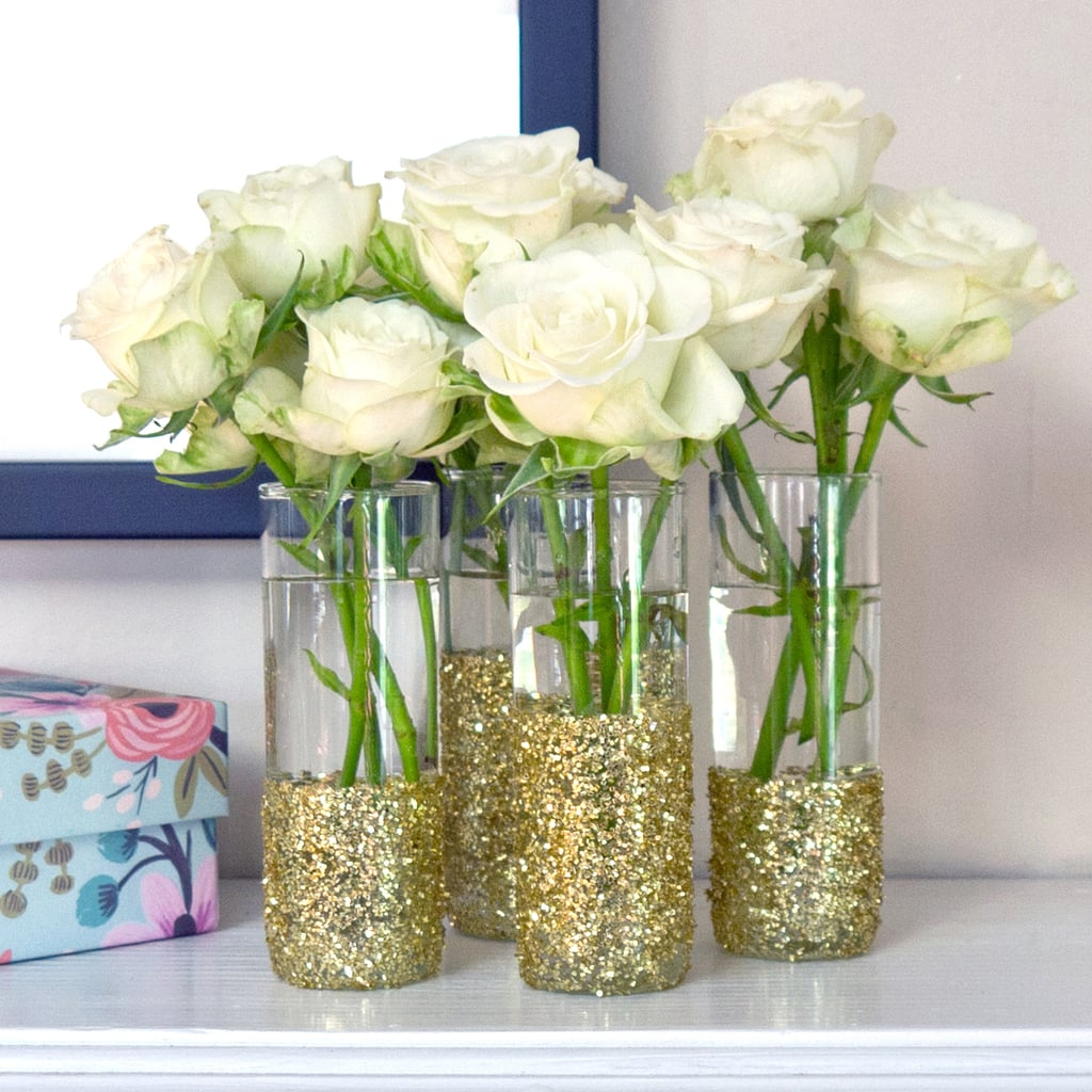 Diy glitter shot glass vases popsugar smart living if youre looking for a fun diy that makes your space instantly sparkle these shot glass vases are a real stunner for about a dollar apiece solutioingenieria Choice Image