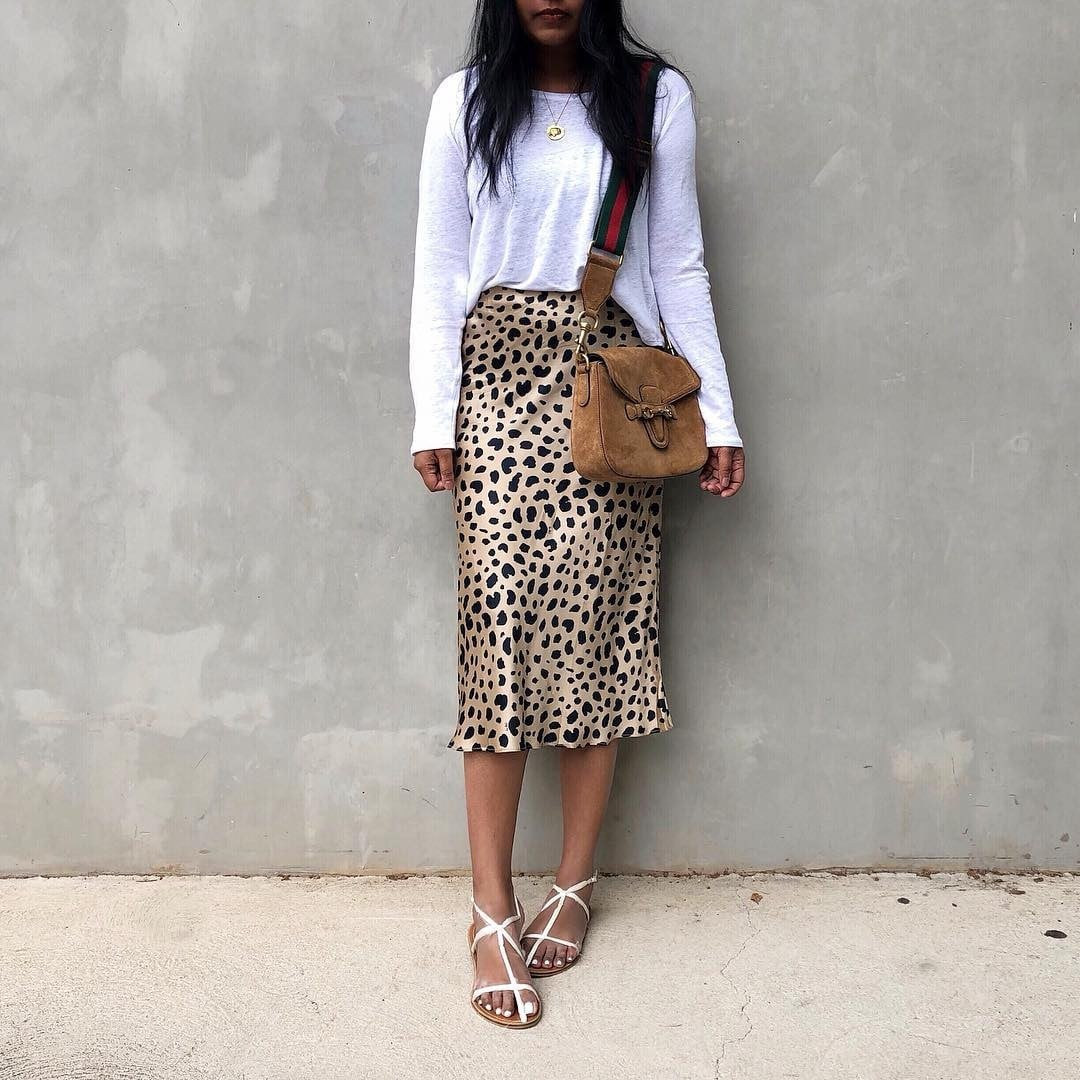 20a7fe744af3e Bias Cut Satin Skirt Trend | POPSUGAR Fashion