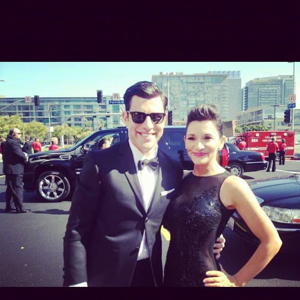 New Girl's Max Greenfield brought his wife as his date. Source: Instagram user hellogiggles