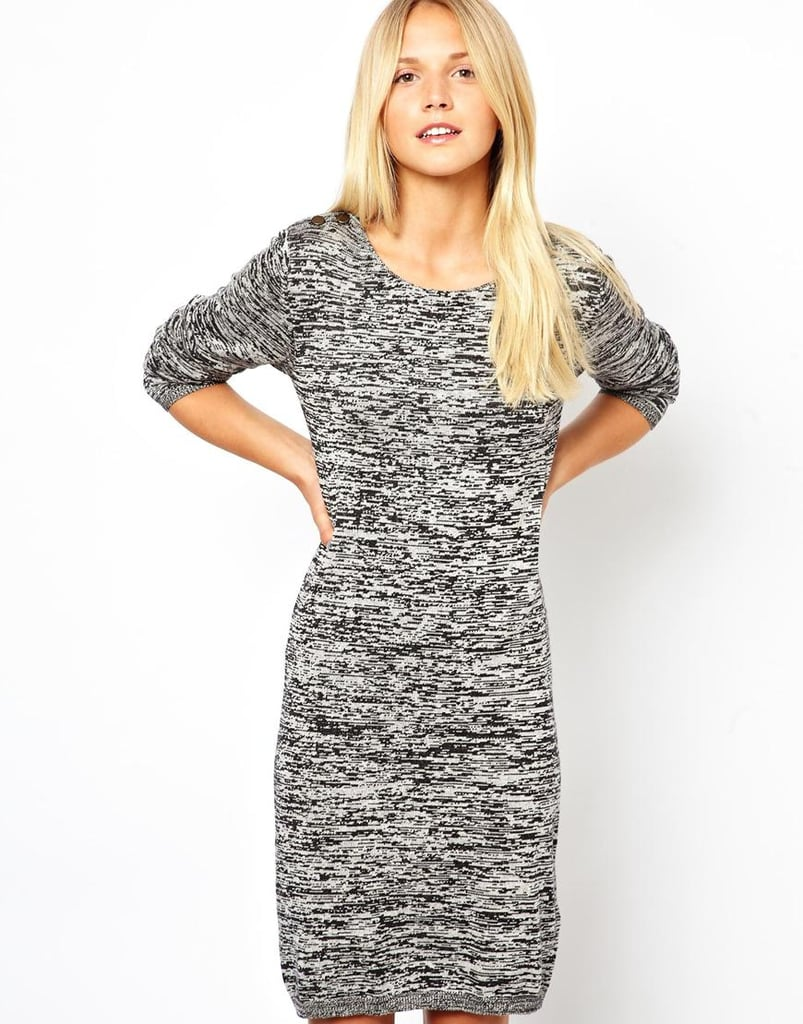 Cozy enough to curl up in around the house, but this Vila knitted dress ($43) could easily go out with the right footwear and jewels, too.