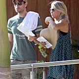 Enrique Iglesias and Anna Kournikova arrived in Cabo ready to relax.