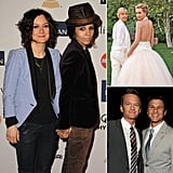 "See Married and Engaged Gay Celebs  The Talk cohost Sara Gilbert announced her engagement to Linda Perry today on the show. Linda — a singer, songwriter, and producer — orchestrated a proposal picnic complete with a surprise musical performance of their song (The Cure's ""Love Song"") and T-shirts with the question printed on them, which Sara called ""the most amazing proposal ever."" Jesse joins other gay celebrities who are engaged or married to their partners, including Modern Family's Jesse Tyler Ferguson who announced his engagement to Justin Mikita last Fall. Sex and the City's Cynthia Nixon and Christine Marinoni wanted to wait until same-sex marriage was legal in New York to get married, and after having their wish granted in 2011 they married in May. Another celebrity to take advantage of the legalization of gay marriage in New York was Michael Kors, who married his longtime partner, Lance LePere in 2011. See some of our other favorite engaged and married gay celebrities now!"
