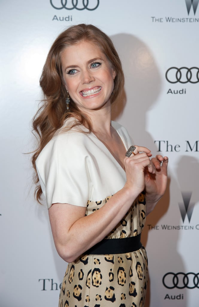 Amy Adams Gets Wild on the Master Red Carpet