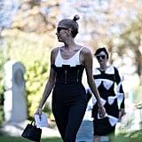 Lena Perminova at Paris Fashion Week