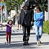 In April 2013, Ben Affleck and Jennifer Garner watched while their daughter Seraphina showed them her moves in LA.