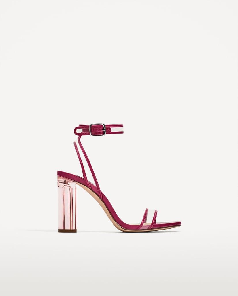 Zara Vinyl High-Heel Sandals