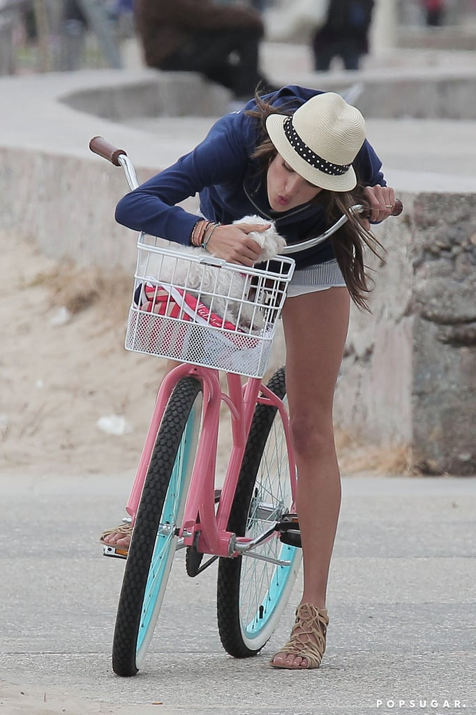 Alessandra Ambrosio Braves the Cold in a Bikini For Victoria's Secret