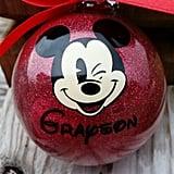 Mickey Glitter Ball Ornament