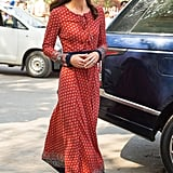 On her most recent tour of India, the duchess stepped out in a $74 maxi dress from UK brand Glamorous.