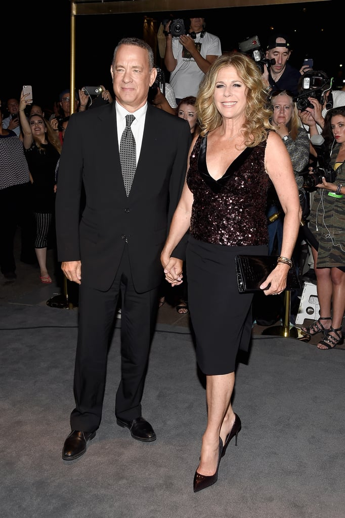 Tom Hanks and Rita Wilson pulled double duty on Wednesday night, attending two high-profile events in NYC. First, the longtime couple showed support for Tom Ford at his fashion show, and then they hit the red carpet at Rita's movie premiere for Brother Nature. The upcoming comedy, which stars Taran Killam and Bobby Moynihan, is centered around a politician who plans to propose to his girlfriend at her family's lake house, but things go south once he meets his future brother-in-law. Tom and Rita have nearly 30 years of marriage under their belts, and much like Goldie Hawn and Kurt Russell, the pair clearly knows the secret to a happy relationship.