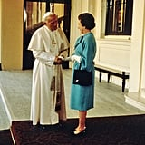 A historic event: 1982 saw the first UK visit by a pope in 450 years.