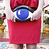 Wink, wink. We're loving the surrealist accent of this Lulu Guinness charming clutch ($684), a theme we're seeing a lot of for Fall.