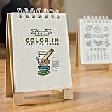 Easel Desk Calendar, Adult Coloring ($20)