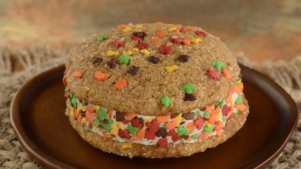 Pumpkin Cookie Ice-Cream Sandwich From Disney's Animal Kingdom Theme Park