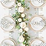 Black & White Heart Pattern Dinner Napkins