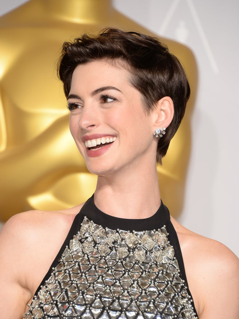 Pictures Of Anne Hathaway Pixie Cut Popsugar Beauty