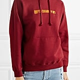 Vetements Embroidered Cotton-Blend Jersey Hoodie
