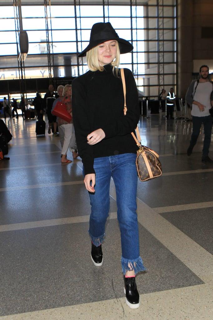 Elle Fanning's High-Fashion Hair Tuck