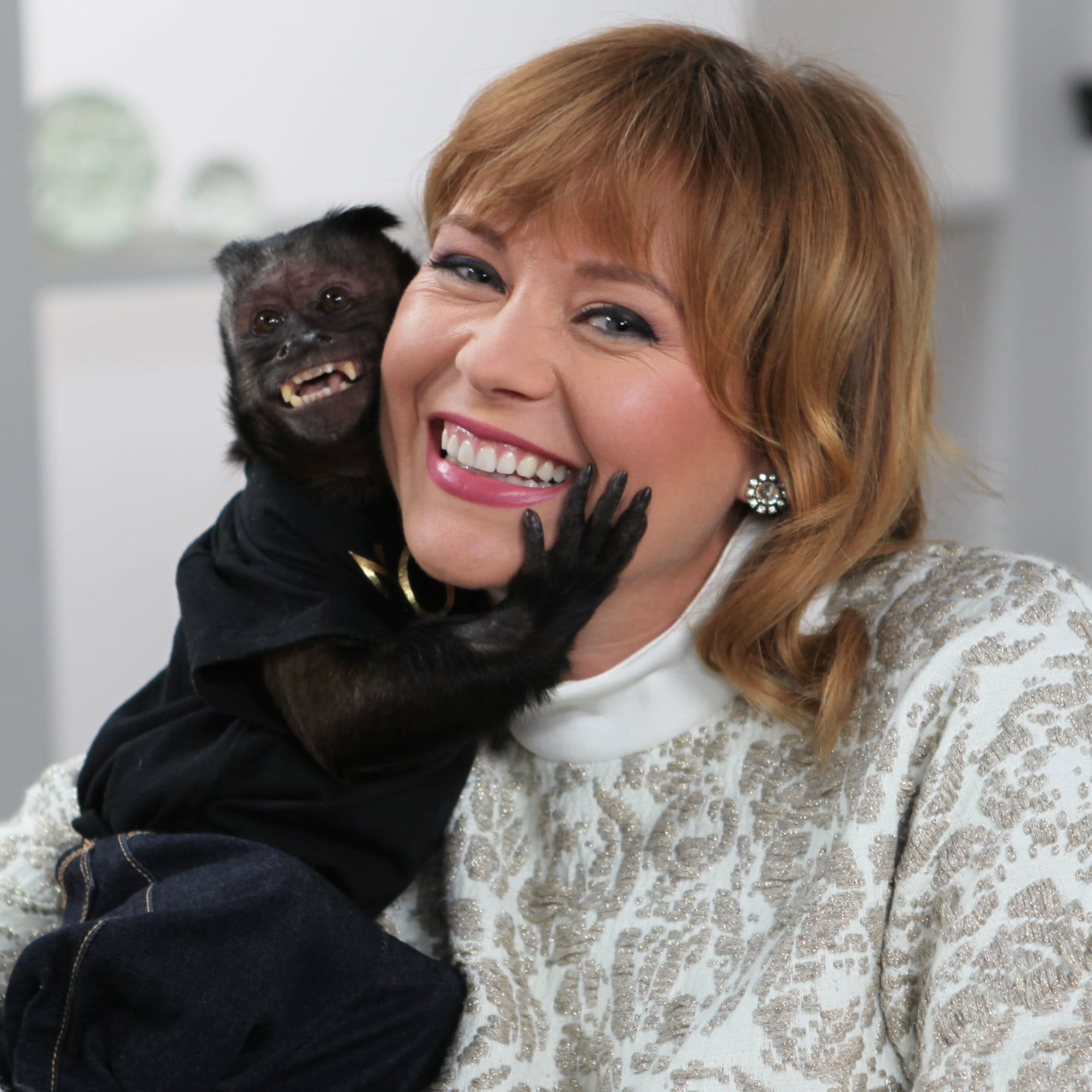 crystal the monkey on the red carpet