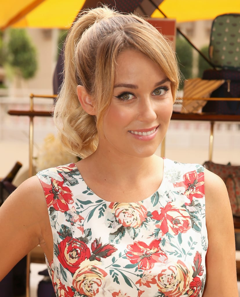 Lauren Conrad paired her signature cat eye with a voluminous high ponytail with curls on the end for an extra sweet touch.