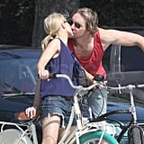 Kristen Bell and Dax Shepard kissed in LA.