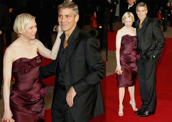 George Clooney and Renée Zellweger At The London Premiere of Leatherheads