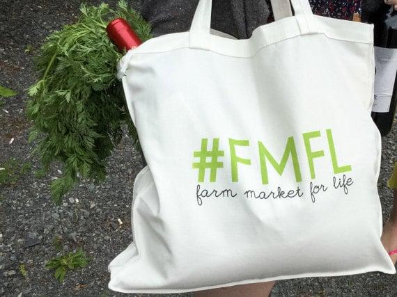 Farm Market For Life tote