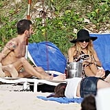 Marc Jacobs made Rachel Zoe smile in St. Barts.